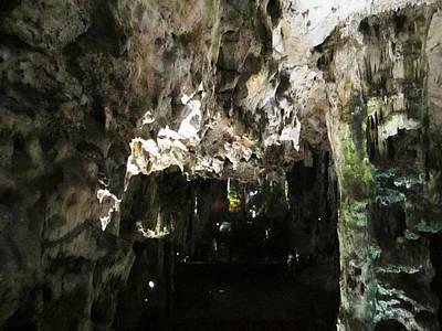 Photograph - Gibraltar Rock St Michaels Cave Stalactites Iv Uk by John Shiron