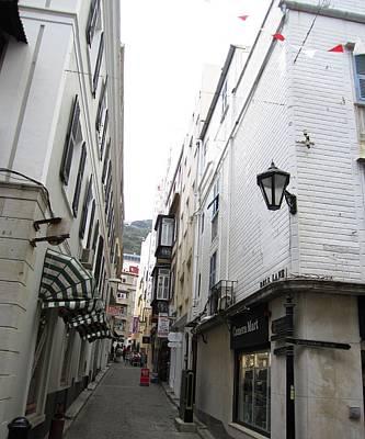 Photograph - Gibraltar Vintage Side Street Uk by John Shiron