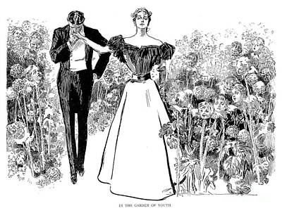 Photograph - In Garden Of Youth by Charles Dana Gibson