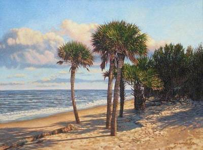 Painting - Giclee Barrier Island Palms by Michael Story