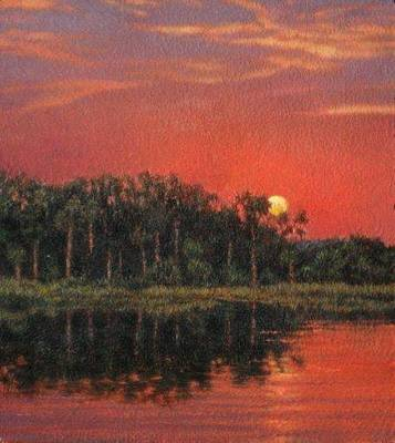 Painting - Giclee Blood Sky by Michael Story
