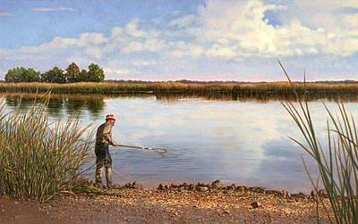 Painting - Giclee Crabbin' In The Ace Basin by Michael Story