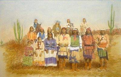 Painting - Giclee Geronimo's Renegades by Michael Story