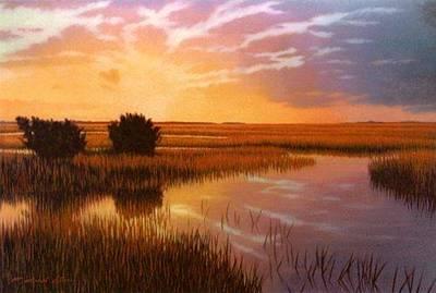 Painting - Giclee Golden Sanctuary by Michael Story