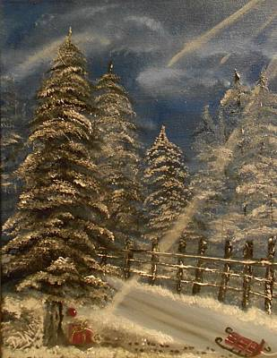 Gift For Santa Art Print by Mary DeLawder