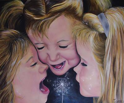 Giggling Painting - Giggly Girls by Tammy Gillam