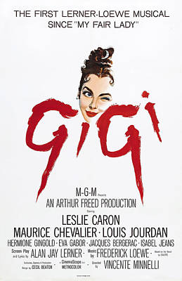 Gigi Photograph - Gigi, Leslie Caron, 1958 by Everett
