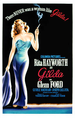 Gilda, Rita Hayworth Poster Art, 1946 Art Print by Everett