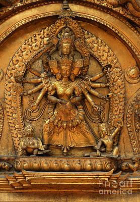 Photograph - Gilded Avalokiteshwara - Bhaktapur Nepal by Craig Lovell