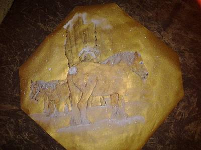 gilded Brabant Art Print by Debbi Saccomanno Chan