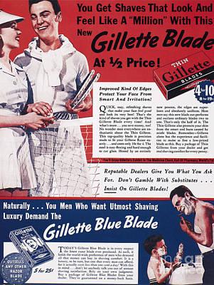 Gillette Razor Ad, 1939 Art Print by Granger