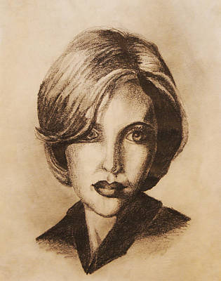 Gillian Anderson Drawing - Gillian by Sara Coolidge