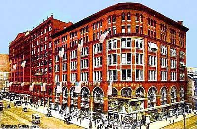 Philadelphia Pa Painting - Gimbel Bros. Department Store In Philadelphia Pa 1910 by Dwight Goss
