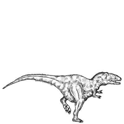 Gimpusaurus - Dinosaur Art Print by Karl Addison