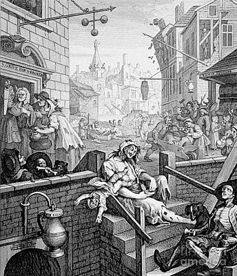 1750s Photograph - Gin Lane, William Hogarth by Science Source