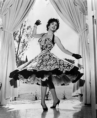 1950s Fashion Photograph - Gina Lollobrigida At Her Villa by Everett