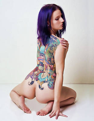 Photograph - Gina With Tatt by Joel Gilgoff