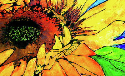 Painting - Gina's Sunflower by Laura  Grisham