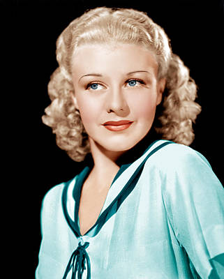 Publicity Shot Photograph - Ginger Rogers In Rko Publicity by Everett