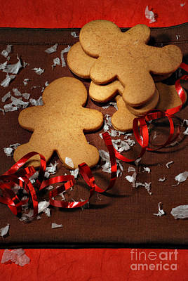 Junkfood Photograph - Gingerbread Men by HD Connelly