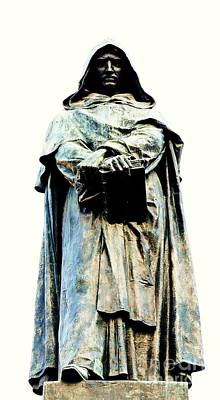 Sculpture - Giordano Bruno Monument by Roberto Prusso