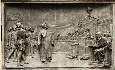Giordano Bruno Photograph - Giordano Bruno On Trial by Sheila Terry