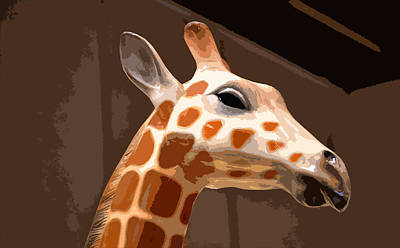 Photograph - Giraffe by Bill Owen