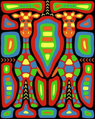 Giraffe Mola Art Print