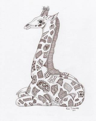 Giraffe Art Print by Paula Dickerhoff