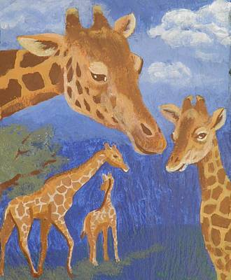 Painting - Giraffes by Sharon Casavant