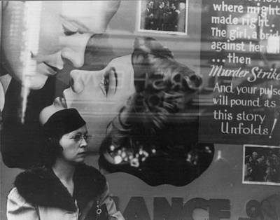 Vachon Photograph - Girl And Movie Poster, Cincinnati by Everett