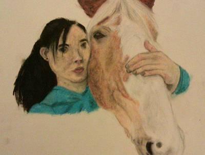 Girl And Pony Art Print by Jamie Mah