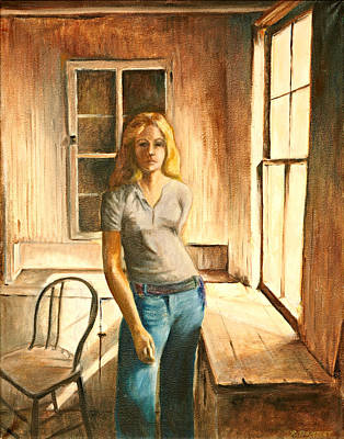 Painting - Girl At The Window by Rita Bentley