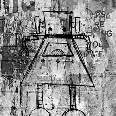 Bot Digital Art - Girl Bot by Roseanne Jones