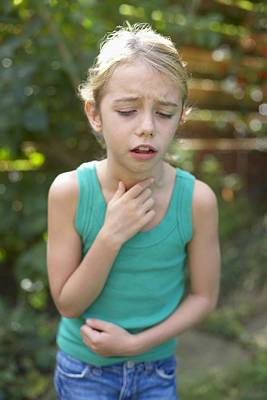 Cough Medicine Photograph - Girl Coughing by Ian Boddy