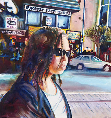 Painting - Girl In The City by Maureen Dean