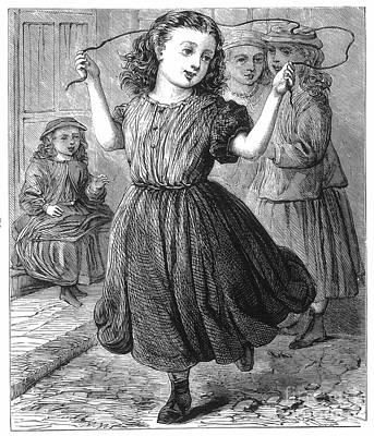 Girl Jumping Rope Art Print by Granger