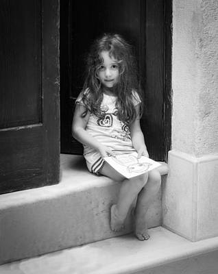 Photograph - Girl On Doorstep by Michael Avory