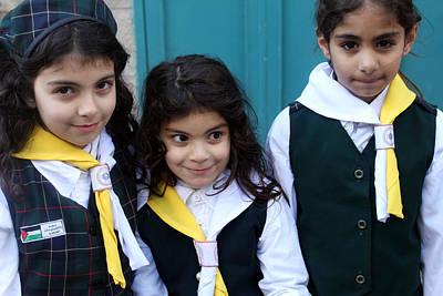 Girl Scouts At Orthodox Christmas Celebration Original by Munir Alawi
