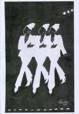 Girl Trio Art Print by Rhetta Hughes