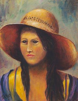 Painting - Girl With A Bonnet by Herman Sillas