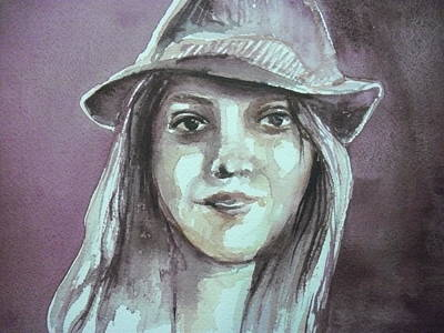Painting - Girl With A Hat by Aleksandra Buha