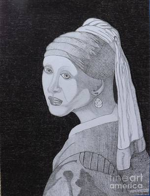 Girl With A Pearl Earring Art Print by Gerald Strine