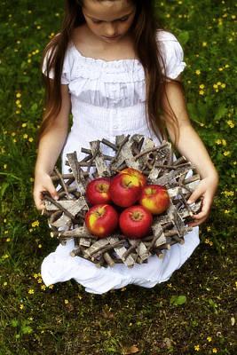Turf Photograph - Girl With Apples by Joana Kruse