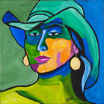 Painting - Girl With Golden Earrings by Dennis Jones