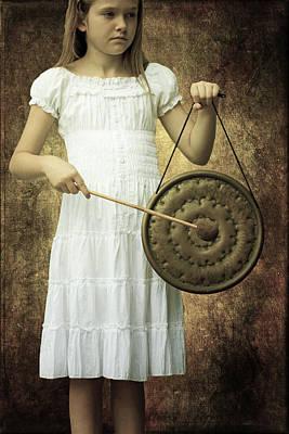 Girl With Gong Art Print by Joana Kruse