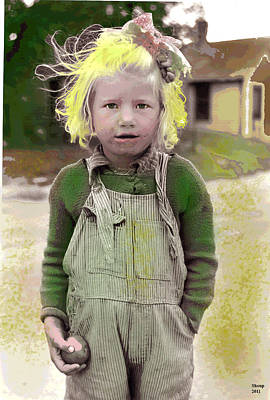1-charles-shoup.fineartamerica.com Mixed Media - Girl With The Golden Blonde Hair by Charles Shoup