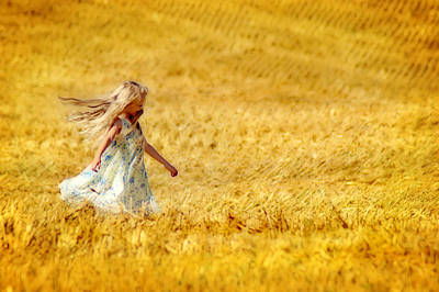 Photograph - Girl With The Golden Locks by Bill Pevlor