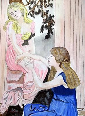 Girlfriend's Number One Art Print by Cathy Jourdan
