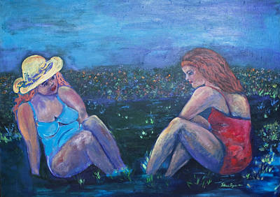 Acryllic Painting - Girlfriends by Patricia Royce